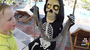 Halloween Skeleton Props by Lil Skelly Bones On Vacation Spirit Halloween Animatronics