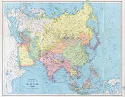 Map Of Asia by Large Scale Detailed Old General Map Of Asia 194x Old Maps Of