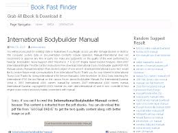 33 international bodybuilder manual