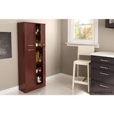 Kitchen Pantry Furniture South Shore Axess 4 Door Laminated Particleboard Pantry In