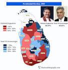 Sri Lanka. Presidential Election 2005 | Electoral Geography 2.0