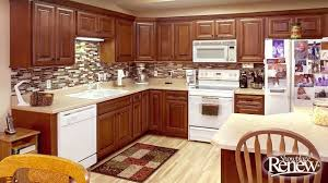 Kitchen Cabinet Refacing by From Basic Oak To Elegant Cherry With Renew Cabinet Refacing Youtube
