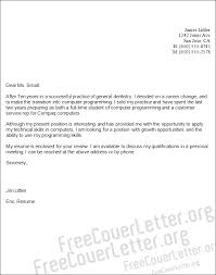 Computer Programming Cover Letter Sample A Cover Letter Template for every job   FreeCoverLetter org