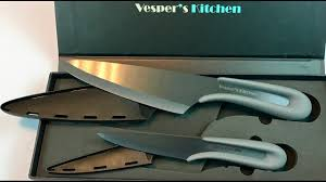 2 black ceramic kitchen knife set 6