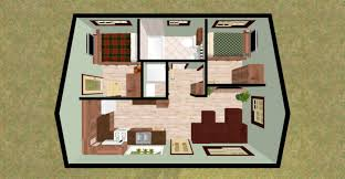 Small 2 Bedroom Cabin Plans 2 Bedroom 2 Bath House Plans 4 Marvelous House Plans Alluring