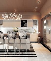 a modern art deco home visualized in two styles