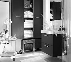 fresh black bathroom storage cabinets with drawers and oval
