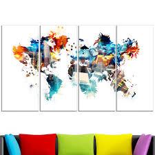 World Map Canvas by Color My World U2013 Map Canvas Art Pt2725 Finecraft Art