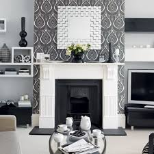 Best Black And White Rooms Home Decorating Images On - Wallpaper living room ideas for decorating