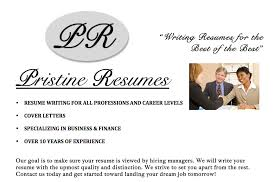 Professional Resume Writing Service by Pristine Resumes      professional resume writing service