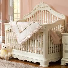 White Convertable Crib by Creations Venezia Collection Convertible Crib In Vanilla Bebez