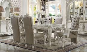 Acme Furniture Dining Room Set Versailles Dining Table White By Acme 61140