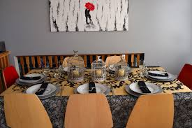halloween table cloth haute halloween tablescapes