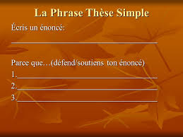 Dissertation  Examen  Histoire Plan  taire     La Phrase Th  se    est