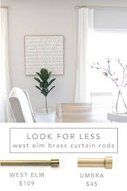 12th and white my favorite inexpensive brass curtain rods and