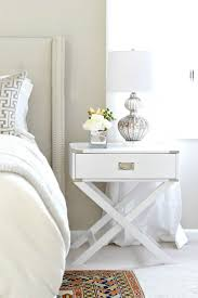 Grey And White Bedroom Decorating Ideas Best 10 White Nightstand Ideas On Pinterest White Bedroom