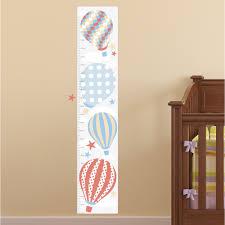 gender neutral baby room decor nursery decor ideal for creating a hot air balloon kids growth chart neutral
