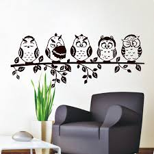 compare prices on living room wall stickers online shopping buy dctop five coffee baby owl wall decal pvc waterproof hollow out home decor living room wall