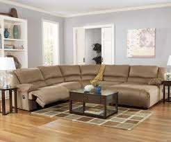 Ashley Furniture Sectionals Hogan Mocha 5 Piece Motion Sectional With Chaise By Signature
