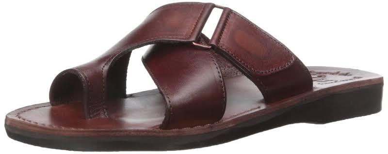 Slip on Leather Sandals Asher Brown, Brown / 42 Jerusalem Sandals