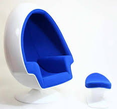 stunning lounge chairs design with egg shape and velvet wrapping