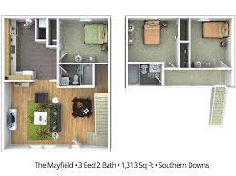 3 Bedroom Apartment Floor Plan 3 Bedroom Apartment Floor Plans U0026 Pricing U2013 Southern Downs