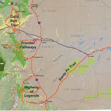 Southwest Colorado Map by Byway Maps Frontier Pathways