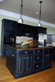 Antiqued Kitchen Cabinets 25 Best Black Distressed Cabinets Ideas On Pinterest Distressed