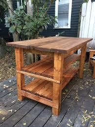 Handmade Kitchen Islands Kitchen Furniture Log Home Rustic Kitchen Island Butcher Block