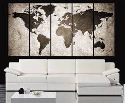 World Map Canvas by Retro World Map Canvas Print Art Drawing On Old Wall Watercolor