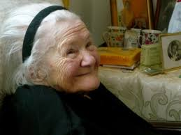 ... who began a history project about Irena Sendler and ended up elevating her to the status of Polish national hero and furthering dialogue and education ... - Irena_Sendler_at_98_-_2008