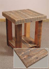 Diy Simple End Table by All The Barn Wood Pieced Together Make For A Really Nice Look On