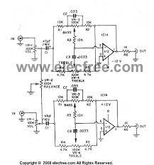 home theater circuit diagram three tone control circuit using op amp ne5532