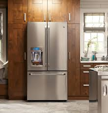 Ada Compliant Kitchen Cabinets Ge Cfe28tshss 36 Inch French Door Refrigerator With Lcd Screen