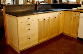 birch custom kitchen cabinets stauffer woodworking custom birch cabientry with clean design and slate counters