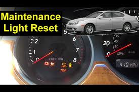 lexus maintenance light reset proceedures auto repair series