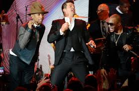 Skills and Strategies   Understanding Plagiarism in a Digital Age     From left  Pharrell Williams  Robin Thicke and T I  performing at a pre Grammy