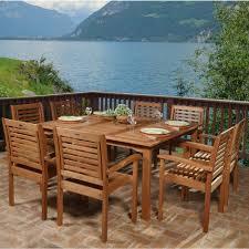 Wood Patio Furniture Sets - amazonia livorno 9 piece square eucalyptus wood patio dining set