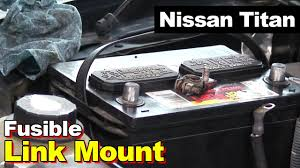nissan titan ecm relay 2004 nissan titan battery fusible link youtube