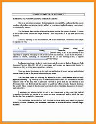 Durable Financial Power Of Attorney 8 general power of attorney form florida scholarship letter