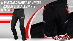 motorcycle pants alpinestars ramjet air vented textile motorcycle pants review