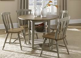 drop leaf leg round dining table with solids rubberwood driftwood
