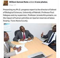 George Bodo on Twitter   quot Surprise DP Ruto     s Ph D dissertation will     Twitter