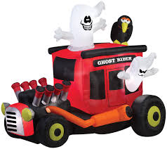 gemmy airblown inflatable ghost rider rod halloween outdoor