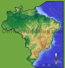 Physical Map Of South America by Brazil Physical Map