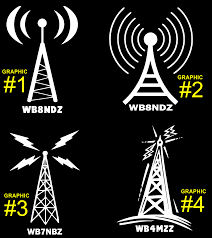 Ham Radio Business Cards Templates Radio Tower Ebay