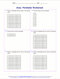 4th Grade Order Of Operations Worksheets Area And Perimeter Worksheets Rectangles And Squares