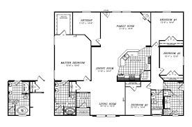 triple wide floor plans fleetwood mobile home floor plans and