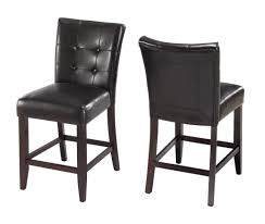 Bar Stool For Kitchen Island Kitchen Bossa Counter Height Kitchen Bar Stool In Black Leather