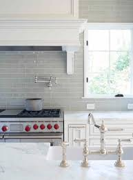 love smoke gray backsplash white cabinets and carrera marble